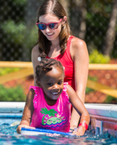 Kenley in pool